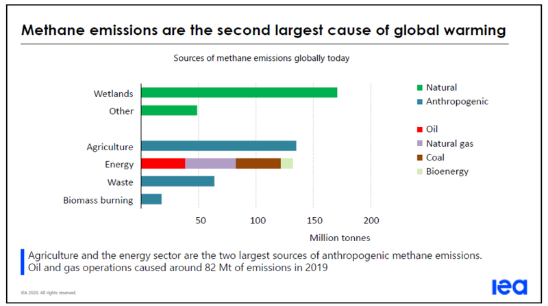 Methane emissions are the second largest cause of global warming